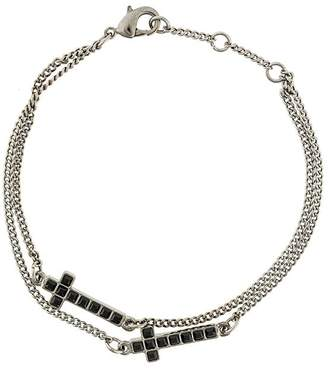 DSQUARED2 embellished cross bracelet