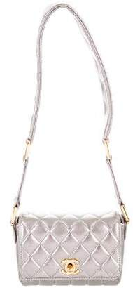 Chanel Silver Iridescent Mini Flap Bag