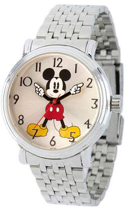 EWatchFactory Women Disney Mickey Mouse Silver Bracelet Watch 38mm