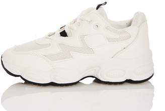 Quiz White Chunky Sole Trainer