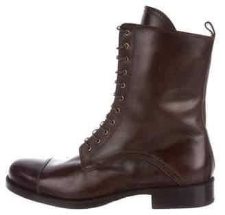 Dolce & Gabbana Cap-Toe Leather Boots