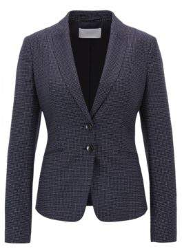BOSS Hugo Metallic Wool Blazer Jibena 12 Patterned