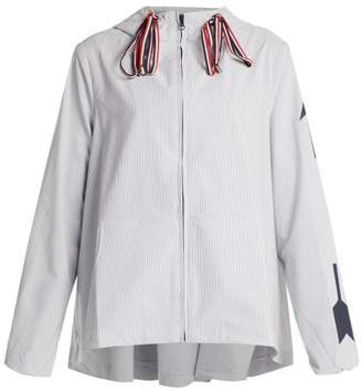 The Upside Dupont Ash Hooded Performance Jacket - Womens - Blue White