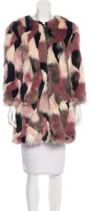 Nina Ricci Reversible Faux Fur Coat