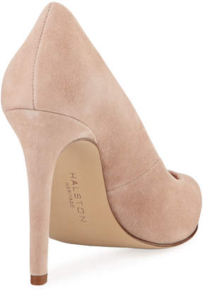 Halston Teri Suede High-Heel Pumps