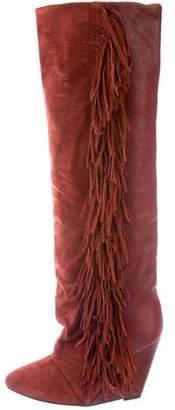 Isabel Marant Fringe-Trimmed Wedge Boots