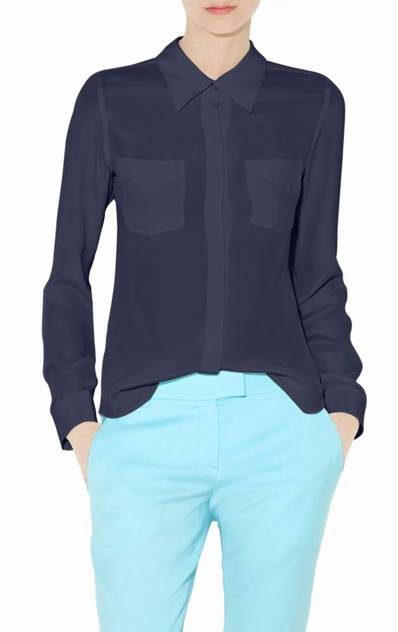 Kianna Silk Button-Down Shirt