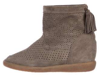 Isabel Marant Perforated Suede Boots w/ Tags