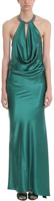 Azzaro Benitier Green Silk Long Dress
