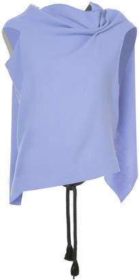 Roland Mouret open back draped blouse