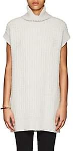 Calvin Klein WOMEN'S BOUCLÉ KNIT TURTLENECK TUNIC-WHITE SIZE S