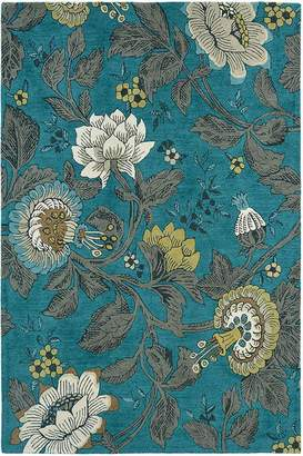 Wedgwood Unitex International Passionflower Teal 37117 Rug