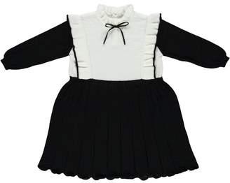 Bebe Organic Brigitta Dress, Black And Ecru