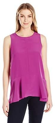 Lark & Ro Women's Sleeveless High-Low Top