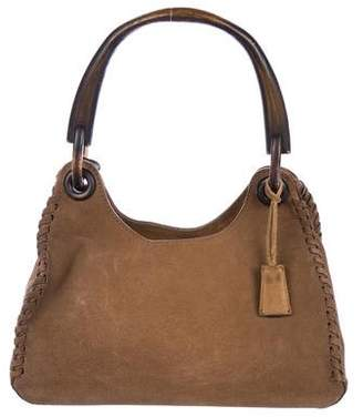 Gucci Suede & Wood Hobo