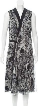 Lanvin Printed Silk Midi Dress w/ Tags