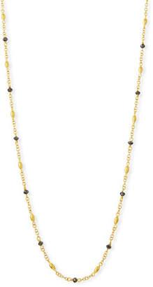 Gurhan Delicate Hue Long Black Diamond Necklace