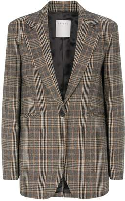 Sandro Prince of Wales Check Wool Blazer