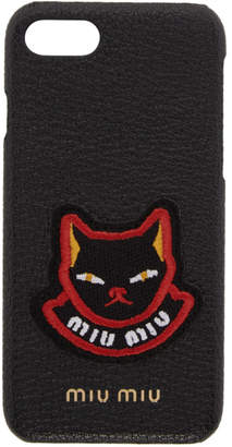 Miu Miu Black Cat Patch iPhone 7 Case