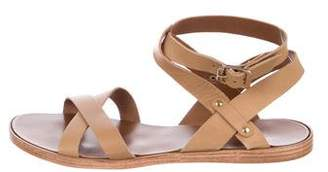 Barneys New York Barney's New York Multistrap Leather Sandals