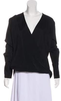 Agnona V-Neck Long Sleeve Top