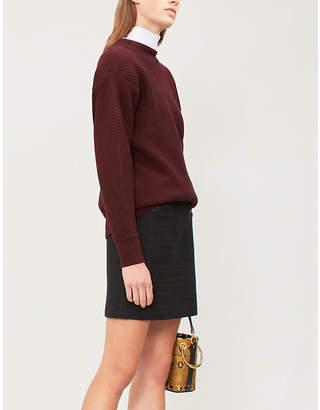 Claudie Pierlot Seal high-rise tweed skirt