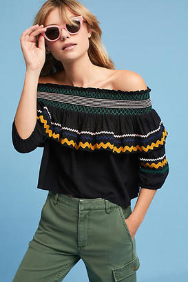 Red Carter Hanalei Off-The-Shoulder Top $150 thestylecure.com