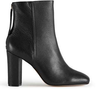Reiss Odelle Textured Leather Ankle Boots