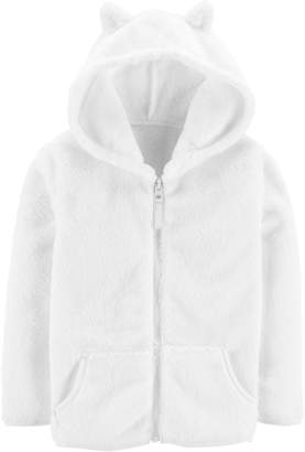 Carter's Toddler Girl Lightweight Hooded Sherpa Jacket