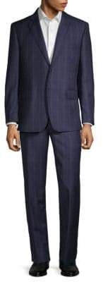 Saks Fifth Avenue Classic-Fit Wool Check Suit
