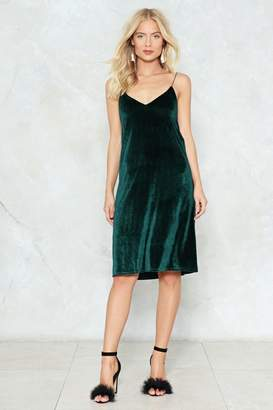 Nasty Gal Applause Velvet Cami Dress