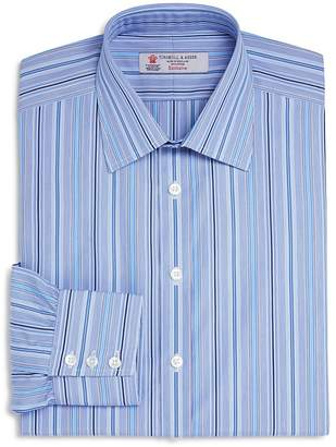 Turnbull & Asser Multi Stripes Classic Fit Dress Shirt $365 thestylecure.com