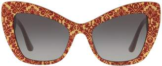 Dolce & Gabbana Bordeaux Cat Eye Sunglasses
