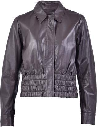 Ganni Brown Zipped Jacket