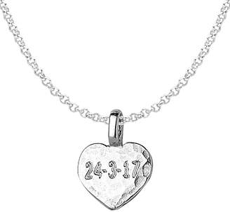 flat pendant arts necklace midas collection lewis polished product heart chris