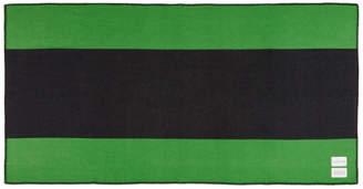 Calvin Klein Green and Black Pendleton Edition Colorblocked Blanket