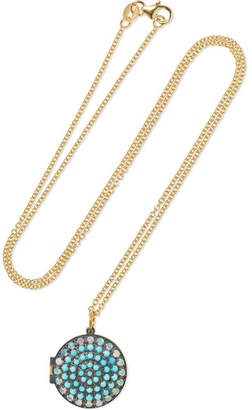 Andrea Fohrman 18-karat Gold, Turquoise And Opal Necklace