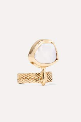 STVDIO - Marina Gold-tone Pearl Ring