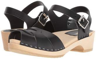Swedish Hasbeens Peep Toe Low Women's Sandals