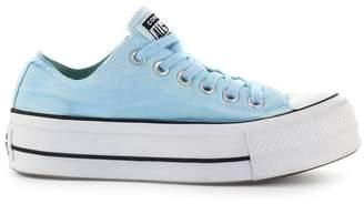 Converse Chuck Taylor Ox Light Blue Platform Sneaker