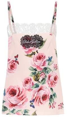 Dolce & Gabbana Silk-blend camisole