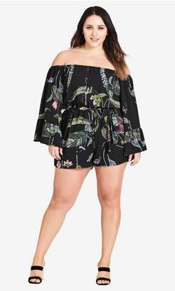 a8c3877687f6 City Chic Citychic Lily Pad Playsuit - black