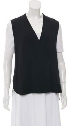 Alexander Wang Crepe Double-Breasted Vest