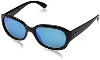Ray-Ban Women's Plastic Woman Polarized Iridium Square Sunglasses