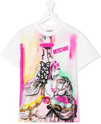 Moschino Kids graffiti logo print T-shirt