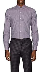 Paul Smith Men's Kensington Gingham Cotton Plain-Weave Shirt-Pink