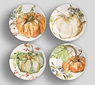 Pottery Barn Harvest Pumpkin Salad Plates, Set of 4