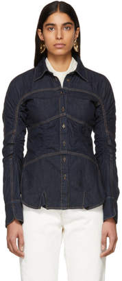 Carven Indigo Denim Shirt