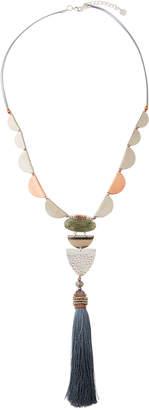 Nakamol Beaded Necklace w/ Labradorite & Tassel
