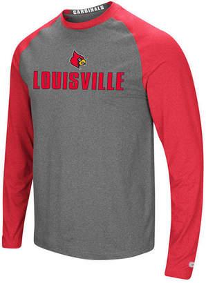 Colosseum Men's Louisville Cardinals Social Skills Long Sleeve Raglan Top